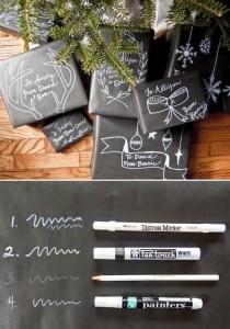 Love this chalkboard type idea...