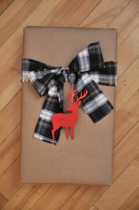 Craft paper, flannel and deer.  This may be my fave...