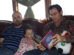 Reading stories with PaPa...