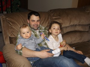 I love these three so very much!  Waco is a WONDERFUL uncle!