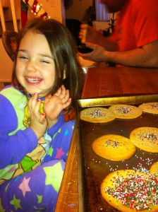 Someone was quite proud of her sprinkling...