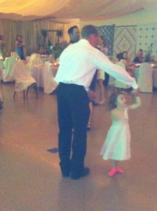 Dancing with the groom!