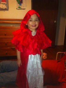 Little Red Riding Hood got chased by a big, bad wolf!