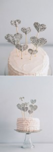 Simple, yet adorable, cake topper...
