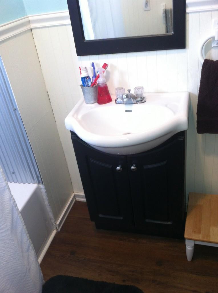 New sink...