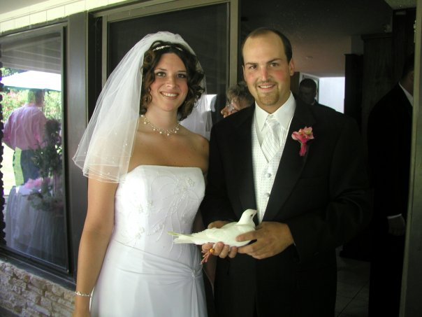 One of the doves we released - one of W's favorite parts of our wedding!