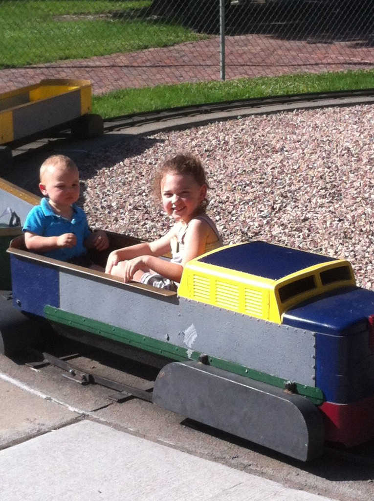 Sister liked the train!