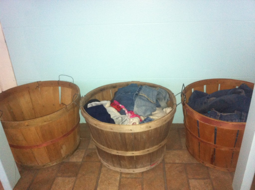 I love my apple basket laundry hampers!