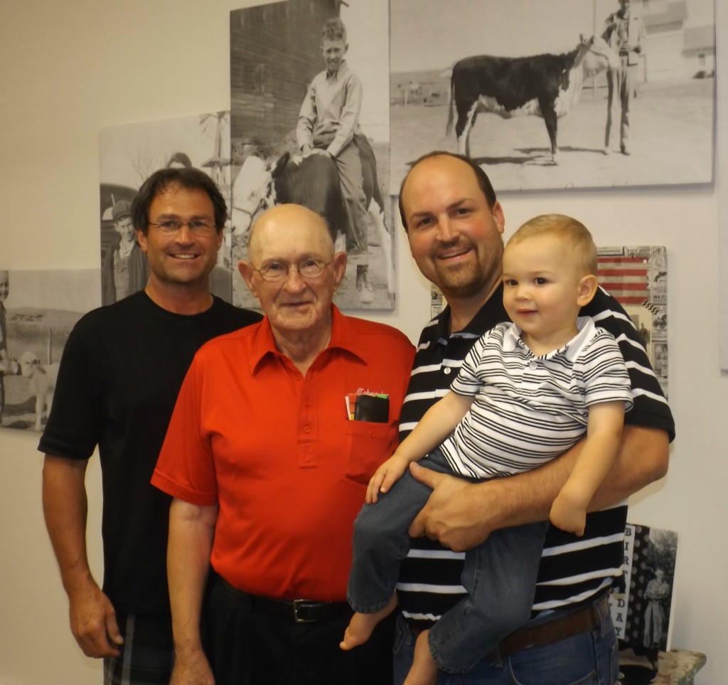 Four generations of Phipps men