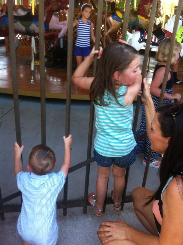 Waiting for their turn on the carousel...