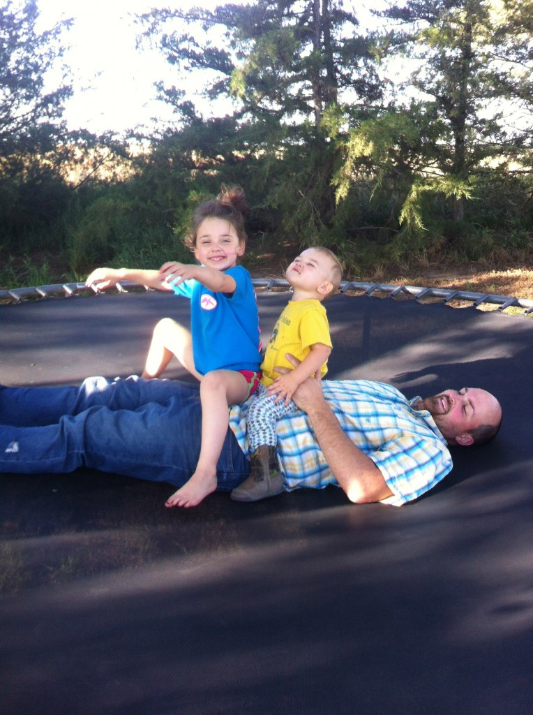 Dads make trampolines more fun...