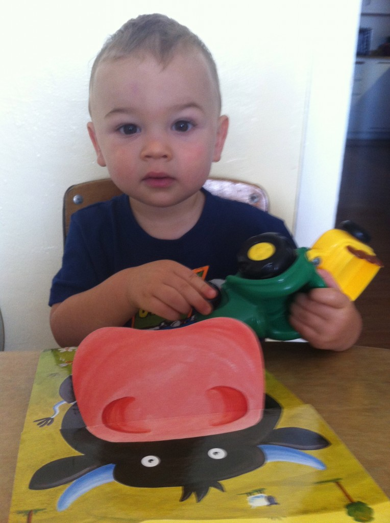 Tractor in hand, still...