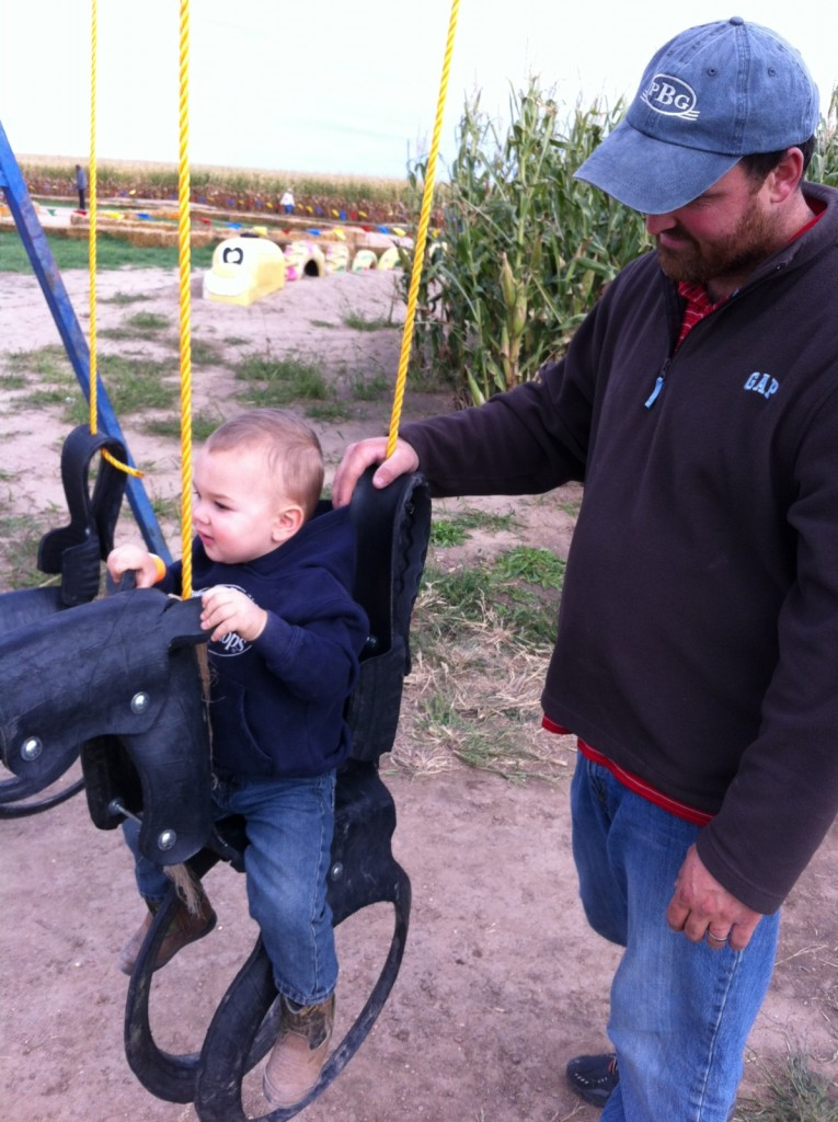 Getting sleepy on the horse swing...