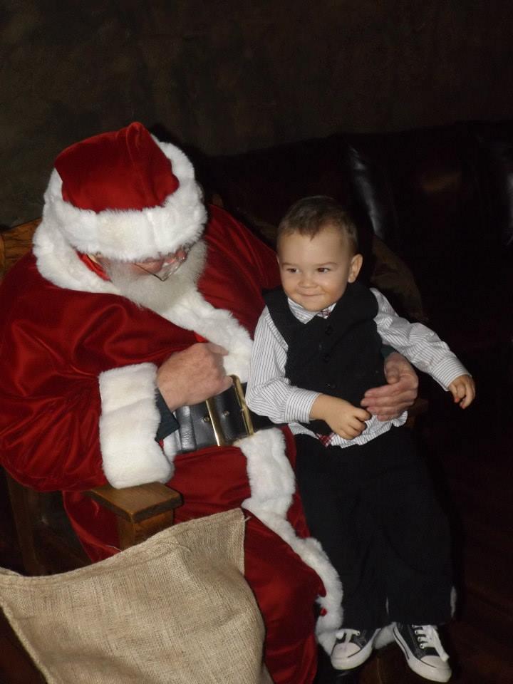 Sittin' with Santa...