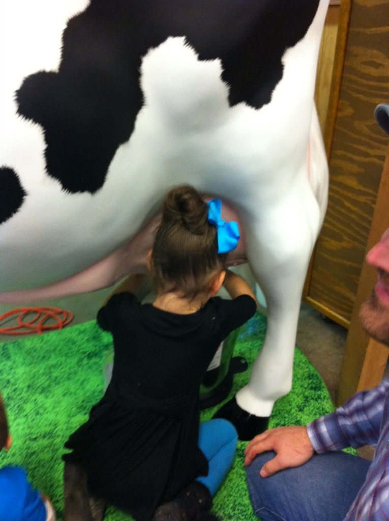 Sawyer LOVED the milk cow.  She now thinks we need one...