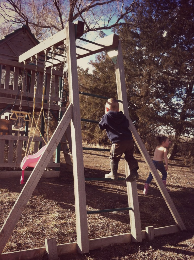 and play structure climbing...