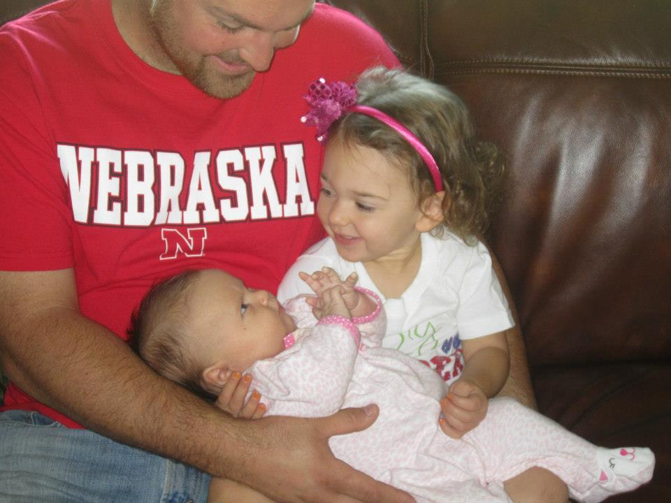 With Baby Breckyn and Sawyer