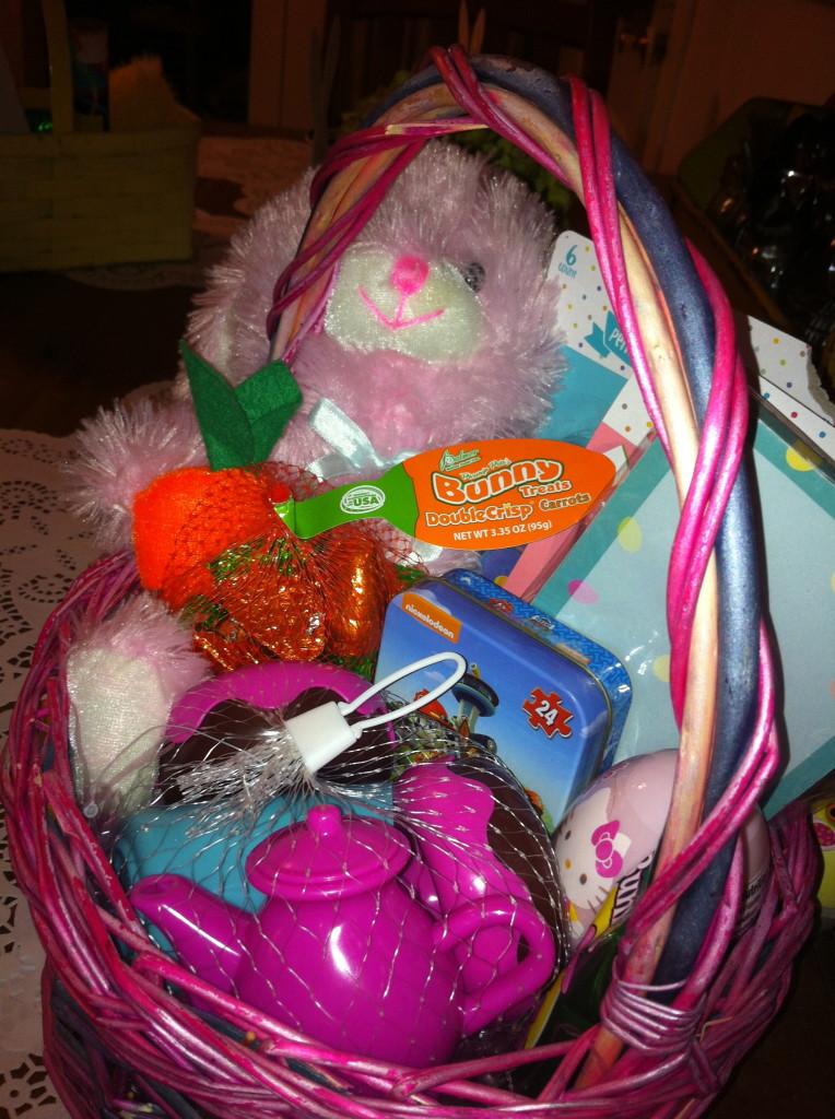 Sawyer's Easter basket