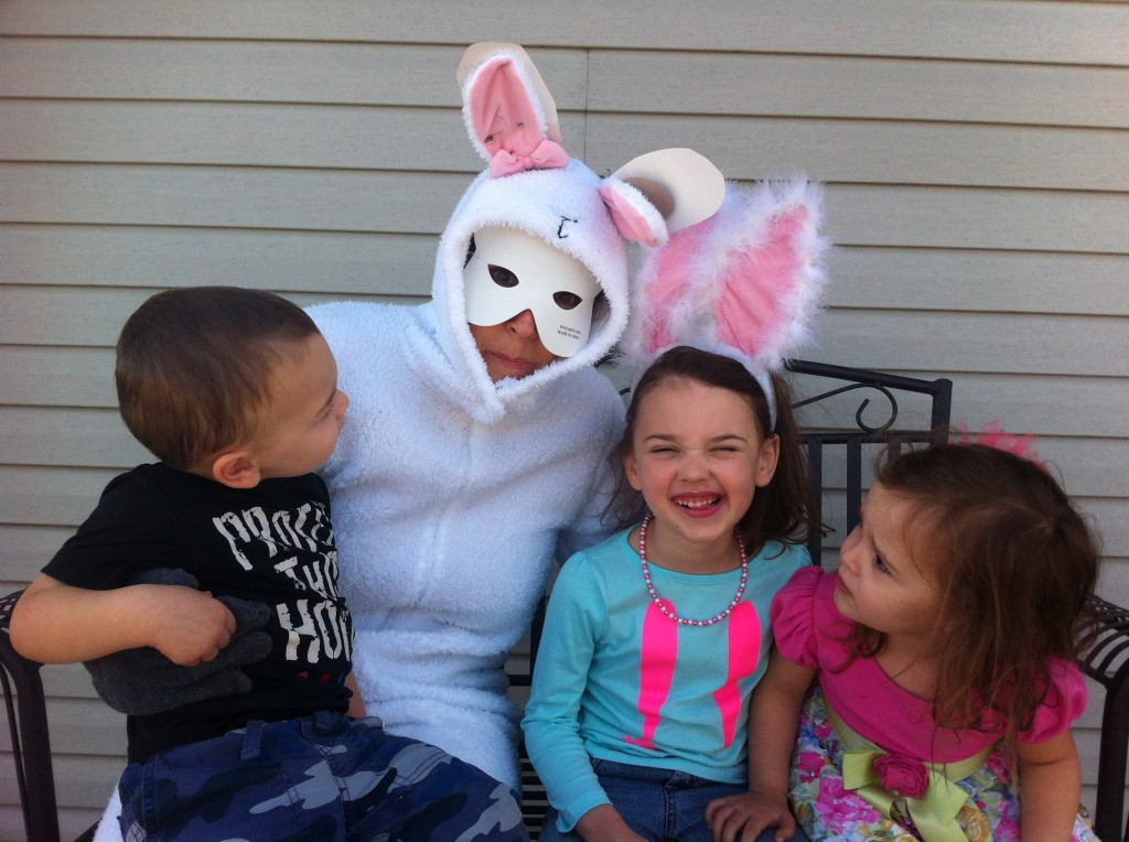 The Easter bunny came for a visit!