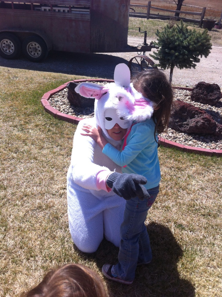Telling the Easter bunny bye...