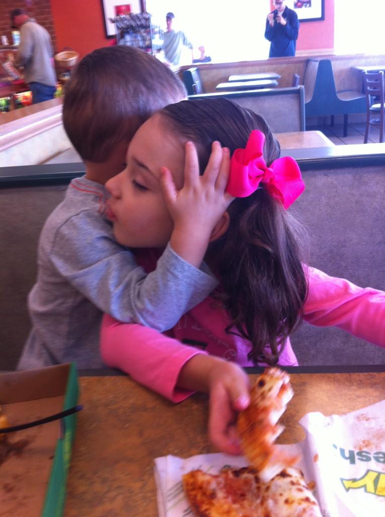 Lunchtime hugs