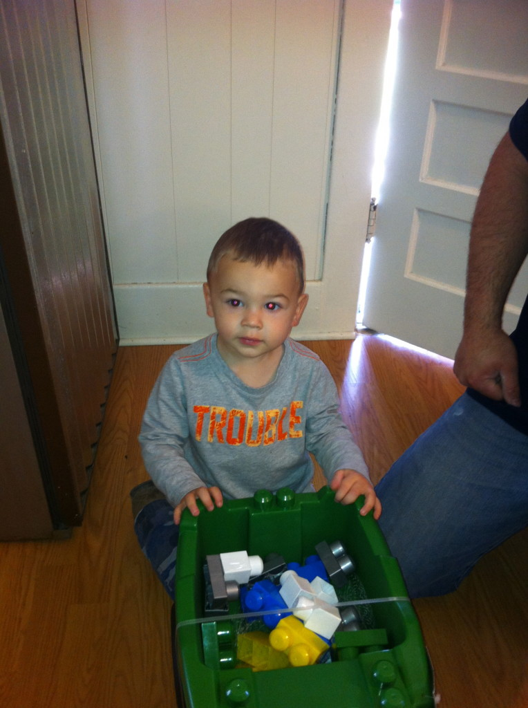 A tractor full of legos!!