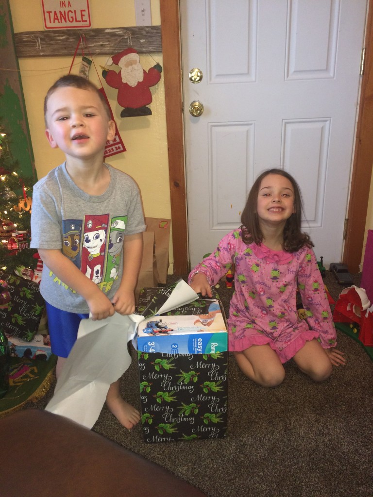 We get to open a present?!