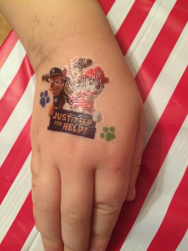 We even had Paw Patrol tattoos!