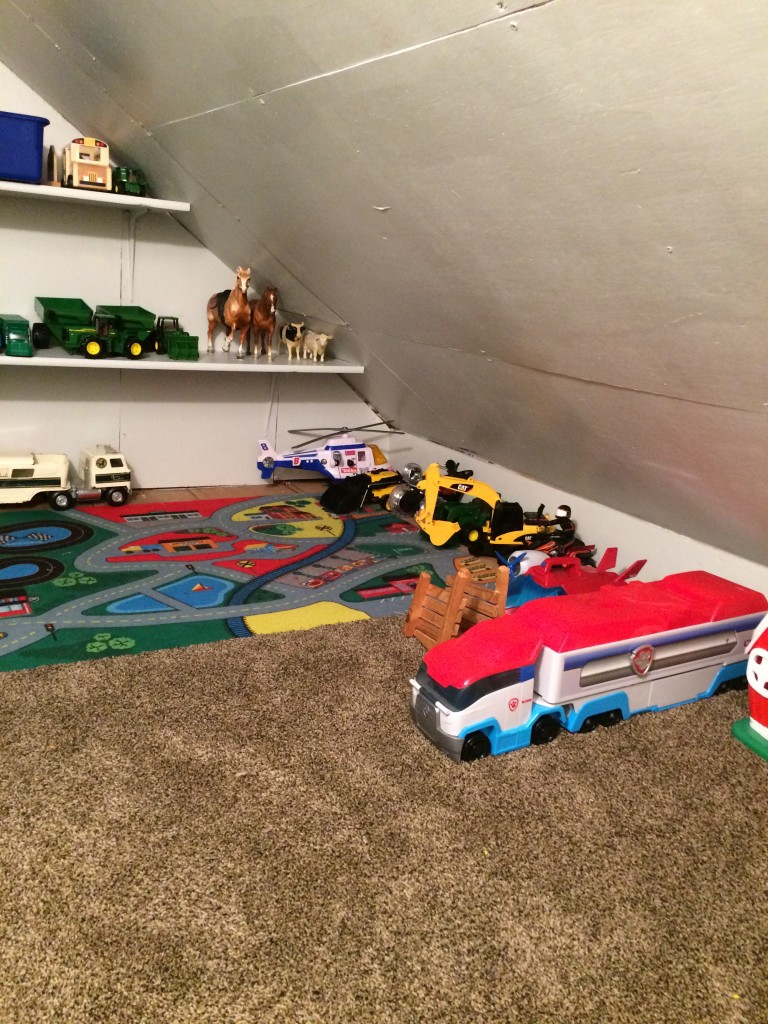Wryder's playroom after