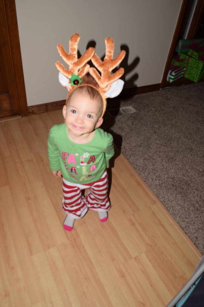 She LOVED these antlers