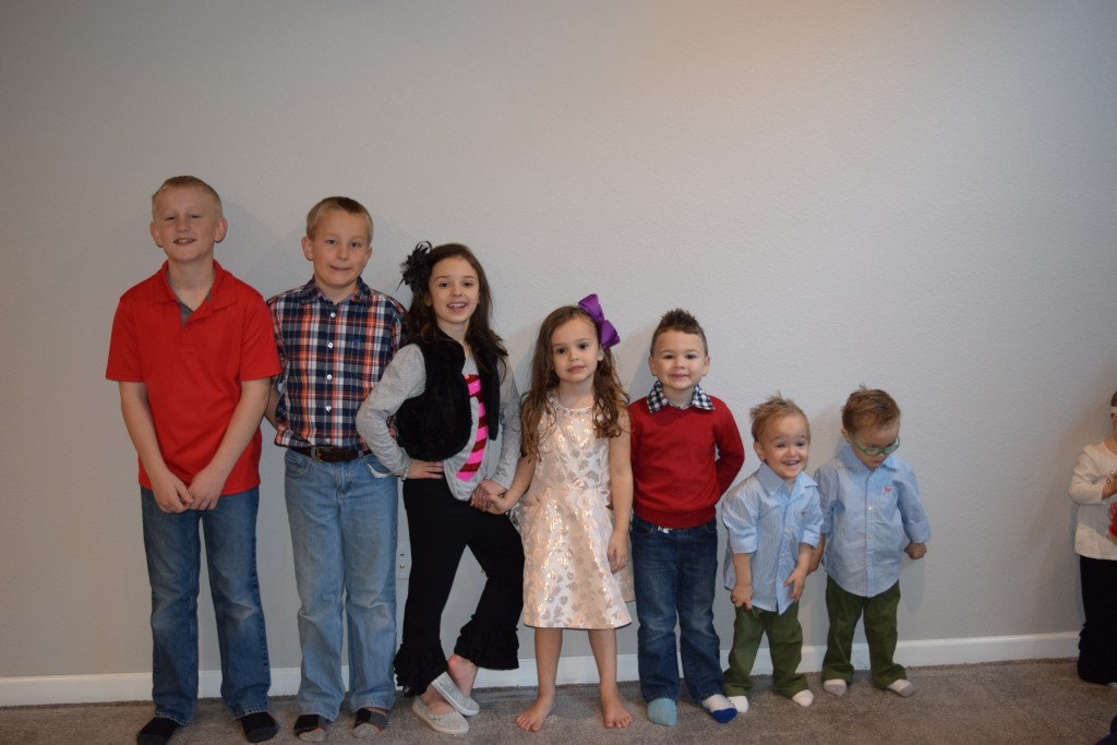 ALMOST all of the grandkids!  (One REALLY didn't want her picture taken - ha!)
