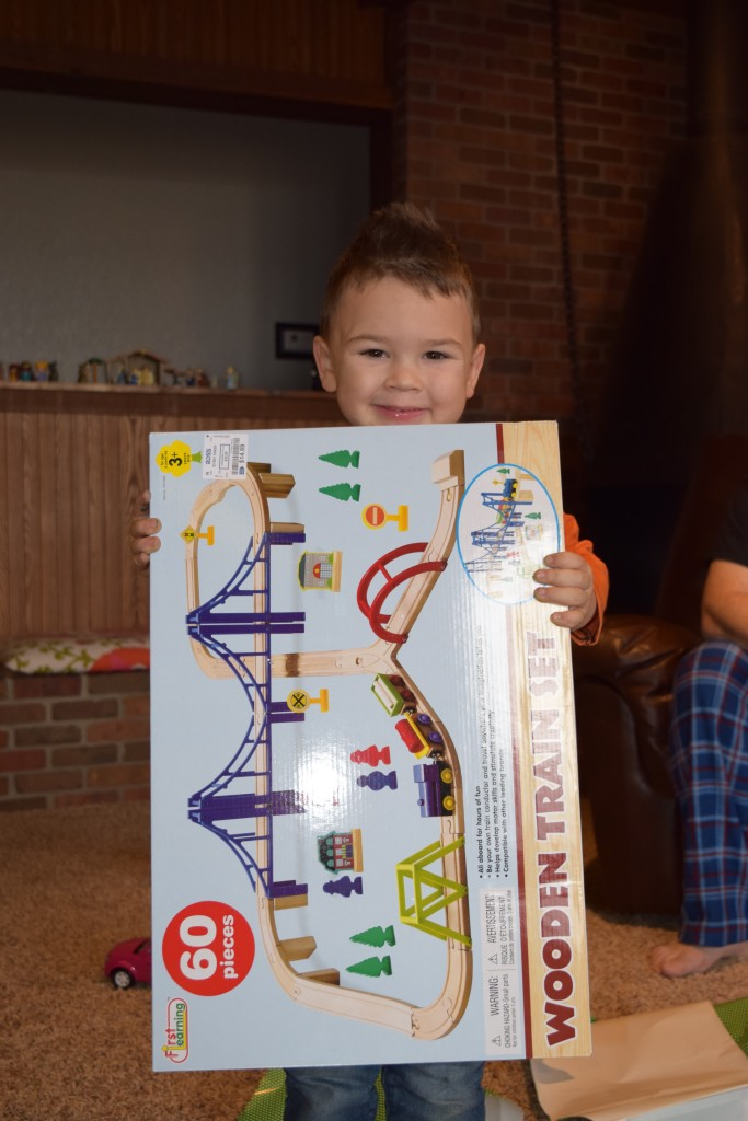 Train tracks might just be his favorite gift - who knew?!