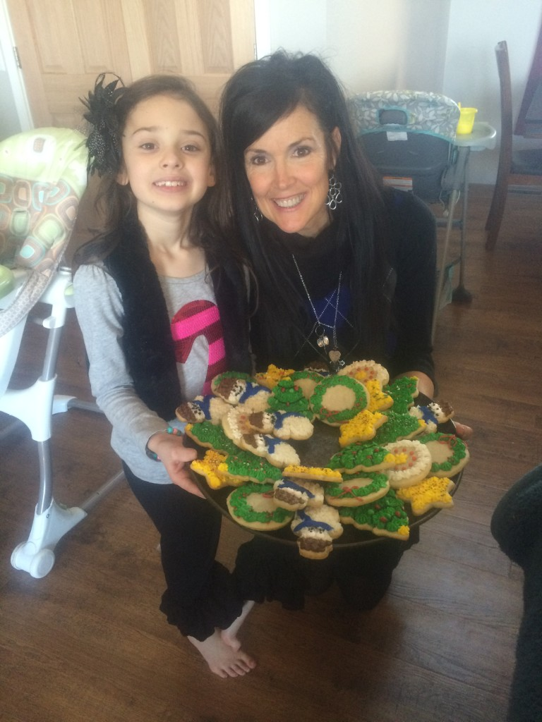 We made RaRa's favorite iced sugar cookies!
