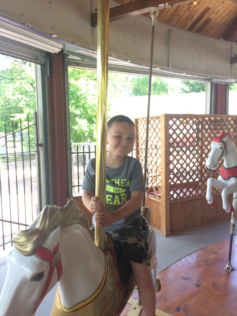 First ride on the carousel