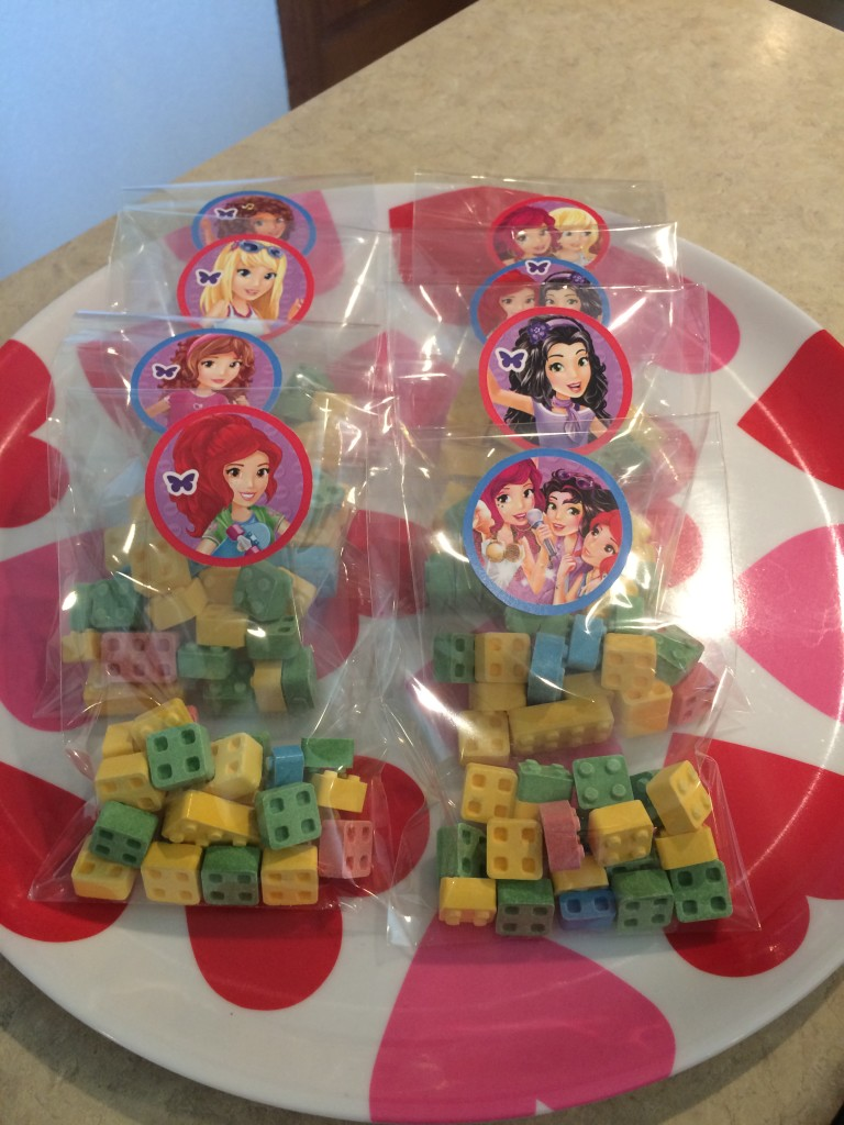 The winners got edible Legos - what could be better?